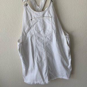 Forever 21 white overall skirt! Size 29